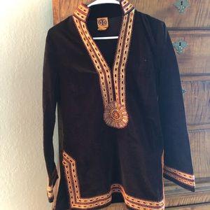 Tory Burch Cotton Velvet Tunic